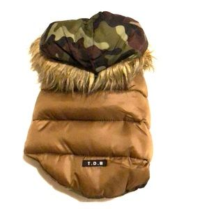 Warmer down jacket for small dogs